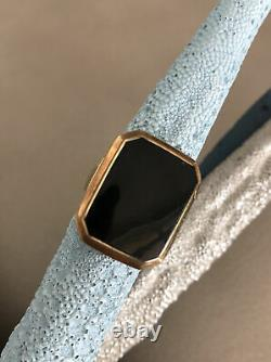 10K Gold Black Mourning Ring 5.6 Grams Jewelry Estate Antique Sz 7 OLD OLD OLD