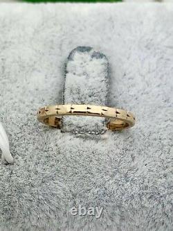 14K Gold Engraved Band- 100 yrs Old- Vintage, Estate- Antique, Victorian- 1.7MM