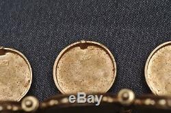 14K Yellow Gold Vintage Victorian Locket Bracelet, Estate, Antique, Hinged