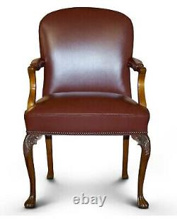 14 Chairs From Princess Diana Spencer Family Home Althorp Estate Brown Leather