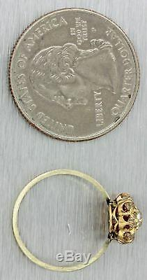 1870s Antique Victorian Estate 14k Multi Gold. 50ctw Diamond Cluster Ring