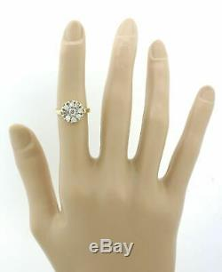 1880s Antique Victorian Estate 14k Gold 1.00ctw Diamond Cluster Engagement Ring