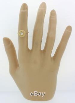 1880s Antique Victorian Estate 14k Yellow Gold Diamond Jewish Star Of David Ring