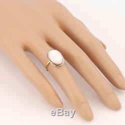 1890s Antique Victorian Solid 14k Yellow Gold Coral Cameo Conversion Ring