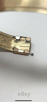 1950s Victorian Etched Bangle Bracelet Vintage Antique Estate Piece