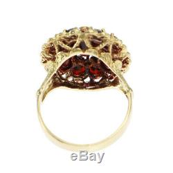 2.71ctw Oval Round Garnet Antique Victorian Estate Cluster Ring 18k Yellow Gold