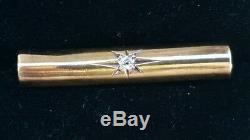 Antique 14k Gold Diamond Victorian Brooch Pin-Diamond Jewelry-estate Jewelry