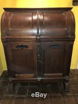 Antique American Victorian WOOTON Desk Walnut Standard Grade 3 Hinge Desk Estate
