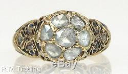 Antique Estate 10k Yellow Gold. 70ct Genuine Rose Cut Diamond Victorian Ring