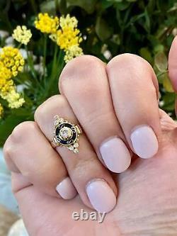 Antique Estate 14k Yellow Gold Victorian Diamond Ring