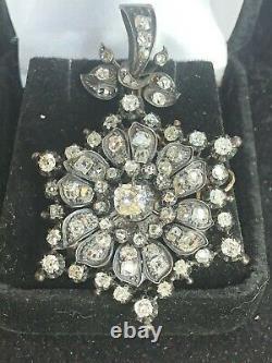 Antique Estate 15k Gold Diamond Pendant Victorian Edwardian 2 1/2 Tcw Appraisal