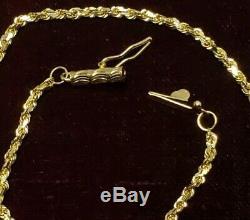 Antique Estate 18 Kt Gold Chain Barrel Clasp Victorian 20 L, 2mm 6.2 grams