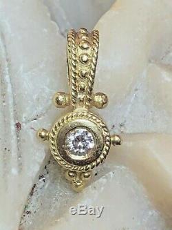 Antique Estate 18k Gold Natural Diamond Pendant Victorian Enhancer