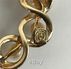 Antique Estate 19thC Victorian Ornate Wreath Circle 14k Gold + Pearls Brooch Pin