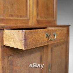 Antique Estate Cabinet, English, Victorian, Oak, Press Cupboard, Circa 1890