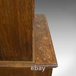 Antique Estate Cupboard, English, Oak, Cabinet, Bookcase, Victorian, Circa 1890