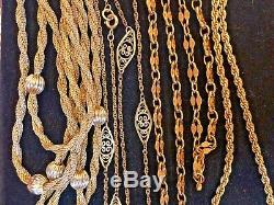 Antique Estate Lot Of 4 12k Gf Chains Book Mark Chain Victorian Art Deco