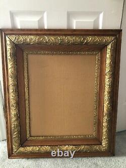 Antique Estate Oak Gold Gilt Gesso Picture Frame 30.5 X 26.5 For 16 X 20 VGC