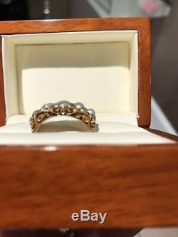 Antique Estate Victorian 18ct Gold Pearl And Diamond Ring
