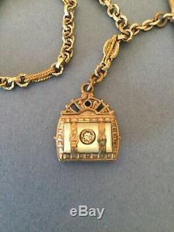 Antique Estate Victorian Gold Color Watch Chain Charm Fob