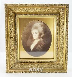 Antique Gold Victorian Picture Oil Painting Frame DEWEY ESTATE Sheffield CT
