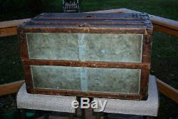 Antique LOUIS VUITTON DAMIER STEAMER TRUNK 1890'S ESTATE FOUND AS IS