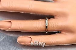 Antique Ladies Victorian Estate FRCO 14K 585 Yellow Gold Diamond Band Ring