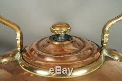 Antique Massive Copper Kettle From Scottish Estate Duke Of Buccleuch Circa 1870
