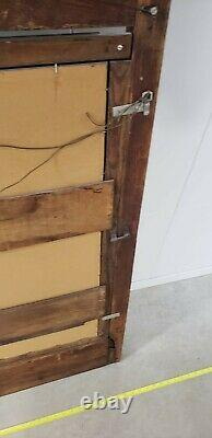 Antique Mirror wood frame oak scroll 48 x 26 Estate