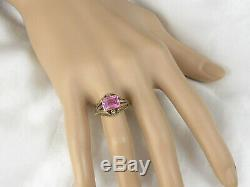 Antique Ring Victorian Period Seed Pearl Estate Two-Tone Fine Jewelry Pink Deco