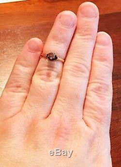 Antique VICTORIAN Estate Engagement. 40ct Natural PINK Diamond Ring 14K Gold