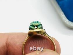 Antique Victorian 14K Rose Gold Egyptian Revival Scarab Ring