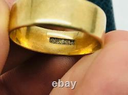 Antique Victorian 14K Rose Gold Men's Plain Cigar Band Ring