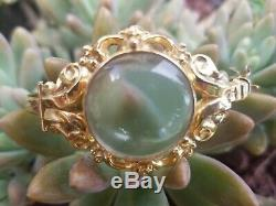 Antique Victorian 14k Gold Crystal Photo Locket Bangle Bracelet Estate 17.9g