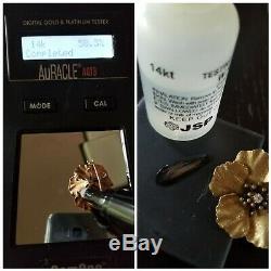 Antique Victorian 14k Gold Diamond Flower Brooch Watch Pin-Estate Jewelry 4.5 g