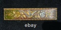 Antique Victorian 14k Gold Swallow Bird Flower Brooch Pin-Estate Jewelry 4.7gm