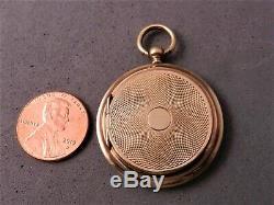 Antique Victorian 14k Solid Gold Locket, No Monogram, Estate Fresh