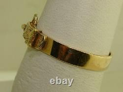 Antique Victorian 14k Yellow & Rose Gold Ornate Buckle Ring! Sz 11 Estate Find