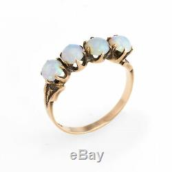 Antique Victorian 4 Stone Opal Ring Vintage 10k Rose Gold Estate Jewelry Sz 5.5