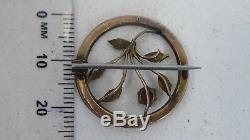 Antique Victorian 9ct Gold Seed Pearl Garnet Brooch Estate Clasp A/f