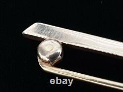Antique Victorian Edwardian 14k Gold Rose Mine Diamond Brooch Pin Jewelry Estate