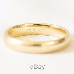 Antique Victorian Estate 10k Solid Yellow Gold 8mm Wide Wedding Cigar Band Ring