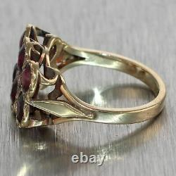 Antique Victorian Estate 14k Yellow Gold 2.50ctw Garnet Ring
