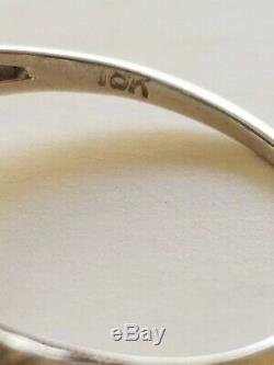 Antique Victorian Estate 1800's 1900's 18K White Gold Diamond Filigree Ring