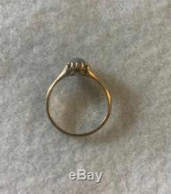 Antique Victorian Gold Belcher Style Moonstone Ring Estate Magical A Beauty