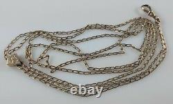 Antique Victorian Gold Filled Pocket Watch Chain Long 48 Vtg Estate Piece