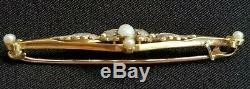 Antique Victorian Opal Pearl 14k Gold Pin Brooch-Antique Jewelry-Estate Jewelry