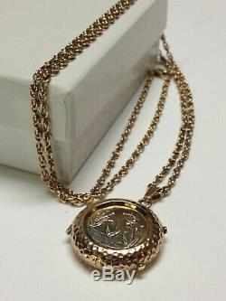 Antique Victorian Ornate 14k Gold Locket Pendant, Necklace 14k Chain