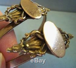 Antique Victorian Pair Gold Filled Wedding Bracelets Estate Jewelry So Pretty