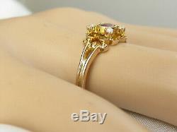 Antique Victorian Period Ring Garnet Rose Cut Diamond Estate Art Deco 14K Yellow